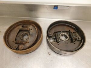John Deere H Tractor Brake Drums With Shoes Ah631r Ah628r 13382