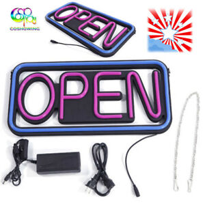 Sign Pvc Led Open Sign Rectangular Hang Waterproof Neon Light Outdoor Gifts Us