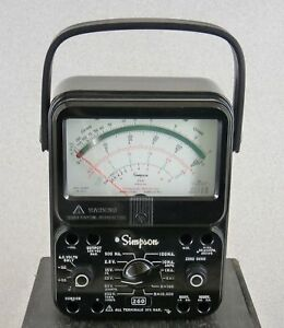 Simpson 260 Series 8p Analog Multimeter W Overload Protection Free Shipping
