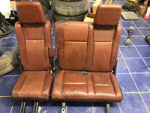 07 14 Expedition El Extended King Ranch Leather 3rd Row Seat Power Folding