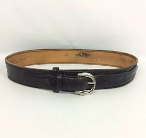 Gun Leather Ltd Duty Belt 34 Black Nickel Covered Brass Buckle Police Security