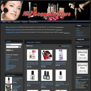 Cosmetic Store Professionally Designed Affiliate Website For Sale free Domain