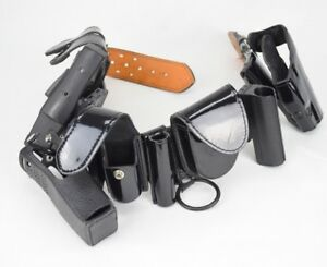 Safariland 36 Police Duty Belt Gun Holster Taser Handcuffs Gould And Goodrich