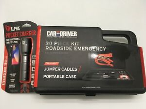 New Jumper Cables 30pcs Roadside Emergency Kit Rechargeable Flashlight
