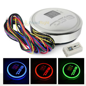 Ds18 Chrome Plated Volt Meter Rgb Led Light Volts Amp Emblem Wifi Controller