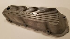 Clean Sbf 289 302 351 Windsor V8 Powered By Ford Aluminum Finned Valve Cover