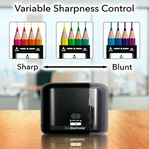 Ex 20 Electric Pencil Sharpener Battery Operated Ac For Kids Handheld Heavy Duty
