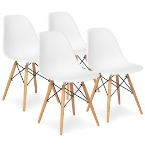 Bcp Set Of 4 Eames Dining Chairs White