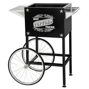 Black Replacement Cart For Larger Paducah Style Great Northern Popcorn Machines