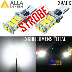 48 Led Bright White Strobe Back Up Light Bulb Center High Stop 3rd Brake Trunk