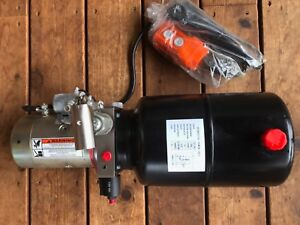 6 Quart Hydraulic Power Unit 2hp 12v