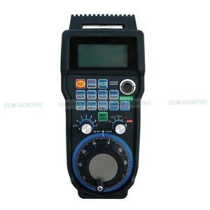 Cnc 6 Axis Usb 40m Wireless Mach3 Mpg Handwheel Controller With Lcd Display