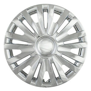 New Set Of 4 15 Chrome Abs Hubcaps Wheel Covers For 2010 2014 Vw Golf