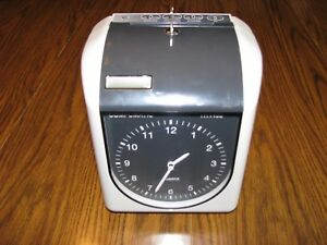 Compumatic Electric Employee Time Card Work Clock Ink Print Tr440a