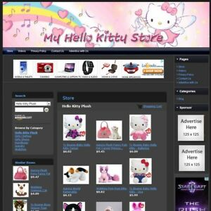 Hello Kitty Store Online Affiliate Business Website And Free Domain Hosting