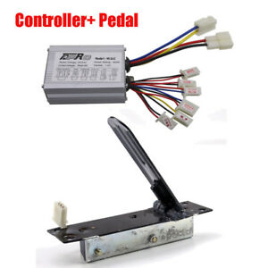 24v 350w Scooter Motor Speed Controller Box Foot Pedal Electric E bike Scooter