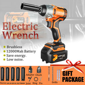 98tv Electric Cordless Impact Wrench Lithium Ion Tire Repair Power Torque Driver