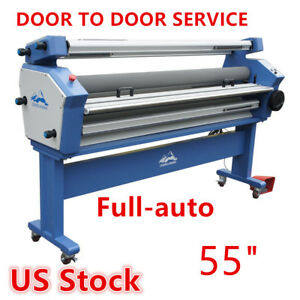 Qomolangma 55in Full auto Wide Format Cold Laminator With Heat Assisted Us Stock