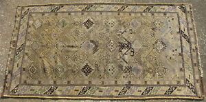 Antique Caucasian Shirvan Rug Hand Knotted Wool Caucasus Mountians 3 4x6 1 3065