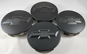 4x All Matte Black Wheel Center Caps For Chevrolet Surburban Silverado Tahoe