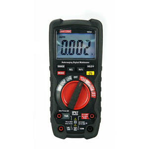 Craftsman Industrial Multimeter Test Leads 9v Battery With Case Lcd Measure Tool