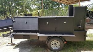 Godzilla Bbq Smoker 48 Grill Trailer Food Truck Mobile Catering Concession Cart