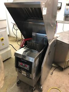 Henny Penny Ofe 321f High Volume Electric Fryer Ventless Self Contained Hood