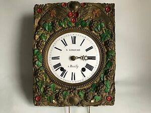 18th Century French Long Case Clock Movement Clock Maker