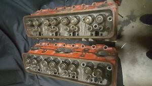 Slightly Used Small Block Chevy Heads Casting 14102191 Used For A Few Hours