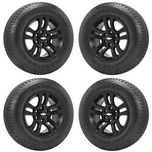 18 Chevrolet Silverado 1500 Truck Black Wheels Rim Tires Factory Oem Set 5646