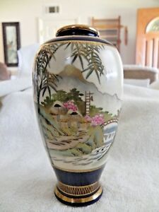 Lovely 6 Meiji Period Satsuma Signed Vase