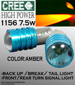 2 Pairs 1156 1141 Led Cree Yellow Replacement For Tail Brake Light Bulbs B8