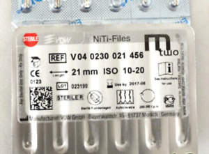 Vdw Mtwo Niti Rotory File For Root Canal Preprations 21mm 10 20 6 pkg