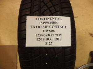 1 New Continental Extreme Contact Dws06 225 45 17 91w Tire 15499640000 Q8