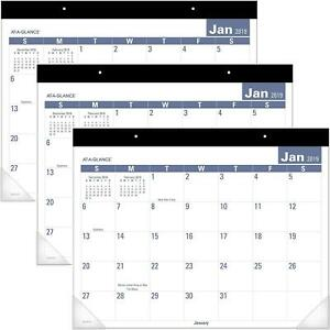 At a glance 2019 Monthly Desk Pad Calendar 22 X 17 Standard Easy To Read 3