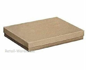 100 Kraft Cotton Filled Retail Gift Merchandise Jewelry Boxes 7 X 5 1 2 X 1 75
