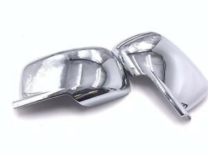 For 09 14 Dodge Journey Chrome Abs Full Mirror Covers Caps Pair