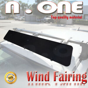 43 Roof Top Cross Bar Air Deflector Aerodynamic Wind Fairing Set For Dodge