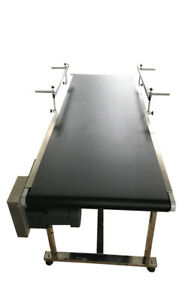 Wooden Package packing Supply 59 19 6 Two Guardrails Conveyor 110v Powered
