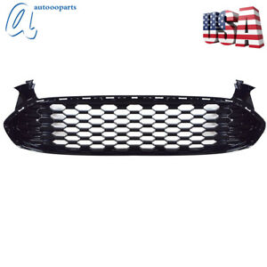 Front Grille For Ford Fusion 2013 2016 Mustang Style Black Glossy Honeycomb