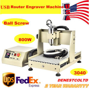 4 Axis 3040 Usb Port Router Engraver 800w Vfd Engraving Cutter B screw Desktop