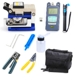 Fiber Optic Ftth Fc 6s Tool Kit Fiber Cleaver Power Meter Finder Locator 10 in 1
