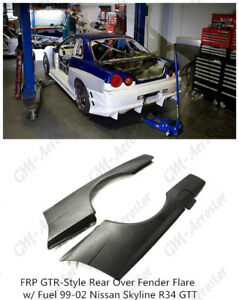 Frp Gtr Style Rear Over Fender Flare W Fuel For 99 02 Nissan Skyline R34 Gtt
