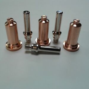 6pc 60amp Long Shielded Consumable Kit Everlast 50s 60s Plasma Cutter Ipt Torch
