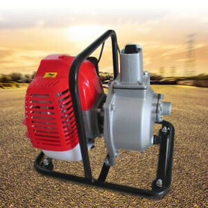 2hp High Pressure Water Transfer Pump Fire Fighting Farm Irrigation Petrol New