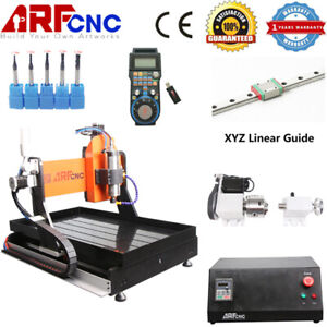 New 6040 2 2kw 4axis Cnc Engraving Machine Water Cooling System linear Guide