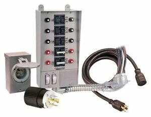 30 Amp Ten Circuit Pro tran Transfer Switch Kit For Generators Up To 7 500 Watts