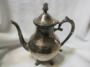 Vintage Fb Rogers Silver Co 1224 2391 Silver Plate Tea Set Teapot W Sugar Bowl