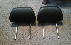 Vw 98 05 Beetle Front Seat Headrest Left And Right Set Of 2 Black Leather