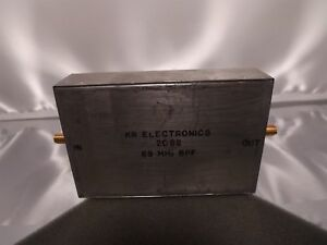 Kr Electronics 2092 Rf Radio Frequency 69mhz Bandpass Filter